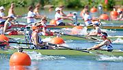 Eton Dorney, Windsor, Great Britain,..2012 London Olympic Regatta, Dorney Lake. Eton Rowing Centre, Berkshire[ Rowing]...Description;  GBR M8+, BOW. Ales PARTRIDGE, James FOAD, ? RANSLEY, Rick EGINGTON, Mo SBIHI, Greg SEARLE, Matt LANGRIDE, Constantine LOULOUDIS and Cox Phelan HILL .move away from the start in their heat of the men' eights.  Dorney Lake. 12:20:05  Saturday  28/07/2012. [Mandatory Credit: Peter Spurrier/Intersport Images]. July/Aug