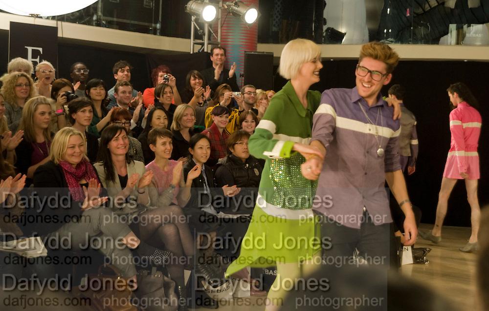 AGYNESS DEYN; HENRY HOLLAND, ' Colour Me Happy' House of Holland fashion show , Quaglinos. Bury St. London. 24 February 2009.