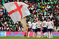 England Harry Kane (9) celebrating after scoring goal to make it 2-0 during the Friendly International match between England and Nigeria at Wembley Stadium, London, England on 2 June 2018. Picture by Matthew Redman.