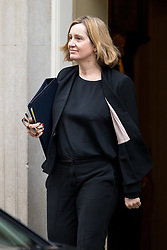 © Licensed to London News Pictures. 29/01/2018. London, UK. Home Secretary Amber Rudd leaving Downing Street after attending a Brexit meeting this morning. Photo credit : Tom Nicholson/LNP