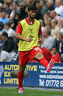 Liverpool's Suso warming up. Pre-season friendly match, Preston North End v Liverpool at Deepdale in Preston, England on Saturday 19th July 2014.<br /> pic by Chris Stading, Andrew Orchard sports photography.