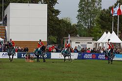 Team Netherlands, Rob Ehrens, Wout Jan Van der Schans, Leopold van Asten, Jur Vrieling, Willem Greve, (NED) winners of the Furusiyya FEI Nations Cup presented by Longines - La Baule 2016<br /> © Hippo Foto - Dirk Caremans<br /> 13/05/16