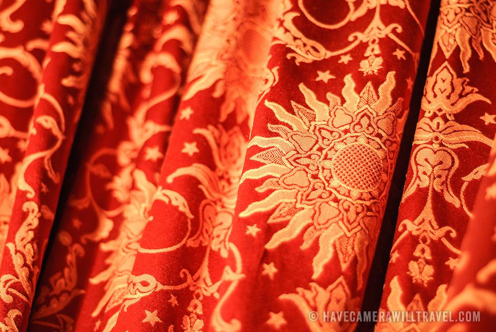 Ornate gold fabric