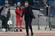 Foto Fabrizio Corradetti - LaPresse<br /> 10/04/2018 Roma ( Italia)<br /> Sport Calcio<br /> Roma-Barcellona<br /> Uefa Champions League 2017 2018 - Stadio Olimpico di Roma<br /> Nella foto: Eusebio Di Francesco<br /> <br /> Photo Fabrizio Corradetti - LaPresse<br /> 10/04/2018 Roma (Italy)<br /> Sport Soccer<br /> Roma-Barcellona<br /> Uefa Champions League  2017 2018 - Olimpico Stadium of Roma<br /> In the pic: Eusebio Di Francesco