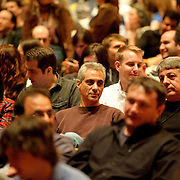 March 31, 2010 (Bethesda, MD) - White House Chief of Staff  Rahm Emanuel takes in WIlco's performance at the Music Hall at Strathmore in Bethesda. (Photo by Kyle Gustafson/For The Washington Post)