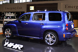 06 February 2005:   The Chevrolet HHR is a mid-sized vehicle inspired by the utility vehicles of the 1940's and 50's.  It was built to satisfy both passenger and cargo needs.<br /> <br /> First staged in 1901, the Chicago Auto Show is the largest auto show in North America and has been held more times than any other auto exposition on the continent.  It has been  presented by the Chicago Automobile Trade Association (CATA) since 1935.  It is held at McCormick Place, Chicago Illinois