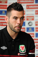 Joe Ledley of Wales is pictured. Joe plays for Celtic. Wales football team training and player media session in Cardiff on Tuesday 19th March 2013.  The team are together ahead of their next two World cup qualifying matches against Scotland and Croatia. pic by Andrew Orchard, Andrew Orchard sports photography,