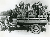 1914 CB DeMille and cast of The Squaw Man at the Jesse Lasky Feature Play Co. in Hollywood