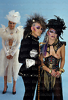 Punk fashions by designer Jane Khan. London 1983. Photographed by Terry Fincher