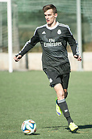 Real Madrid Castilla´s  Diego Llorente during 2014-15 Spanish Second Division B match between Trival Valderas and Real Madrid Castilla at La Canaleja stadium in Alcorcon, Madrid, Spain. February 01, 2015. (ALTERPHOTOS/Luis Fernandez)