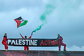 Palestine Action occupy an Israeli owned weapons manufacturer building near Birmingham