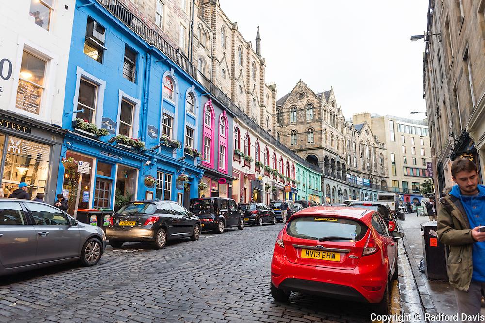 The streets of Edinburgh, Scotland