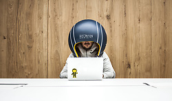 "July 4, 2017 - inconnu - Here's a way to get your head down in a busy office and work without distraction.It's an isolating helmet which blocks out all potentially annoying noises to help concentration.Helmfon is equipped with Bluetooth , a system board, microphone, speakers, magnifier and special inside pocket for smartphone. It can be used to watch movies and videos, organize Skype conferences, answer or make calls, watch or edit photos or add some personal functions. But the sound-excluding material means that workmates sitting nearby won't hear anything and be disturbed themselves.Helmfon was designed and developed by Ukrainian design company Hochu Rayu, whose main idea was to create a tool, that helps anyone fully concentrate on work, gives them personal space and doesn't allow office noise kill his or her productiveness. It comes in a range of bold colors to make the office look fun and standing out. The company also offers an option to customize Helmfon with styles including Native American Indian, superhero Batman and animated film characters the Minions.A spokesman said:"" The unique helmet, specially designed according to the client's wishes will make the person look and feel like his/her favorite superhero in a real life.""The helmet is made from lightweight glass fibre with the outside coated in nitro pain.The interior has a membrane cloth with foamed polyethylene stuffing. Helmfon can be used in different positions - as well as a helmet it can be wall-mounted or ceiling-mounted letting a user just pop their head in like a an old-fashioned public telephone box.It makes the Helmfon perfectly fit into every open space and work for every situation. The spokesman added:"" Helmfon is also a perfect way to economize the working space. ""Instead of organizing the meeting room, where only one person can communicate."". Thanks to helmet special sound absorption functions there is no need in organizing meeting r"