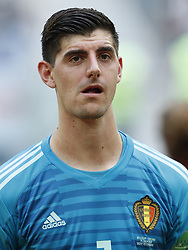 Belgium goalkeeper Thibaut Courtois during the 2018 FIFA World Cup Play-off for third place match between Belgium and England at the Saint Petersburg Stadium on June 26, 2018 in Saint Petersburg, Russia