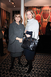 Left to right, NINA CAMPBELL and her daughter in law JULIET FETHERSTONHAUGH at the opening of Luke Irwin's showroom at 22 Pimlico Road, London SW1 on 24th November 2010.