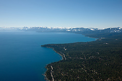 """""""Lake Tahoe Aerial 2"""" - Photograph of Lake Tahoe along the West shore. Shot from an amphibious seaplane with the door removed."""