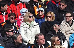 Danilo Turk, Metod Dragonja and Katarina Kresal at 9th men's slalom race of Audi FIS Ski World Cup, Pokal Vitranc,  in Podkoren, Kranjska Gora, Slovenia, on March 1, 2009. (Photo by Vid Ponikvar / Sportida)