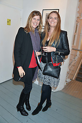 Left to right, KATIE ELLIOT and GEMMA SOAMES at an exhibition of works by Beatrice von Preussen held at The Gallery on The Corner, 155 Battersea Park Road, London SW8 on 11th December 2013.