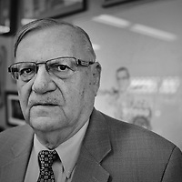 """Joseph M. """"Joe"""" Arpaio (born June 14, 1932) is the six-time elected sheriff of Maricopa County, Arizona. First voted into office in 1992, Arpaio is responsible for law enforcement in Maricopa County. This includes management of the Maricopa County Sheriff's Office (MCSO), county jail, courtroom security, prisoner transport, service of warrants, and service of process. Starting in 2005, he took an outspoken stance as an advocate for strong enforcement of immigration law, and became a flashpoint for opposition to Arizona's SB1070 anti-illegal immigrant law, which was largely struck down by the U.S. Supreme Court. He is well known for attracting media attention, and styles himself as """"America's Toughest Sheriff"""". A controversial figure, Arpaio has been accused of abuse of power, misuse of funds, failure to investigate sex crimes, improper clearance of cases, unlawful enforcement of immigration laws, and election law violations, amongst others. He has been found guilty of racial profiling in federal court, with a monitor appointed to oversee the MCSO's operations. His jails have twice been ruled unconstitutional. The U.S. Department of Justice concluded that Arpaio oversaw the worst pattern of racist profiling in U.S. history, and subsequently filed suit against him for unlawful discriminatory police conduct. Arpaio is also known for his investigation of U.S. President Barack Obama's birth certificate, and his claim that it is forged. Arpaio set up a """"Tent City"""" in 1993 as an extension of the Maricopa County Jail for convicted and sentenced prisoners. Arpaio has described Tent City as a concentration camp.Tent City is located in a yard next to a more permanent structure containing toilets, showers, and an area for meals. On July 2, 2011, when the temperature in Phoenix hit 118 °F (48 °C), Arpaio measured the temperature inside Tent City at 145 °F (63 °C)."""