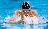 7/2/08 Omaha, NEB..Scott Usher swims the 200M Breaststroke during the Olympic Trials in Omaha on Wednesday afternoon..Chris Machian/Grand Island Independent