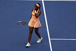 NEW YORK, Sept. 10, 2017  Sloane Stephens of the United States celebrates after defeating her compatriot Madison Keys during the women's singles final match at the 2017 US Open in New York, the United States, Sept. 9, 2017. Sloane Stephens won 2-0 to claim the title. (Credit Image: © Qin Lang/Xinhua via ZUMA Wire)