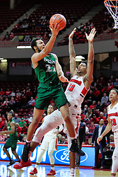 NORMAL, IL - December 16: Jaalam Hill defended by Phil Fayne during a college basketball game between the ISU Redbirds and the Cleveland State Vikings on December 16 2018 at Redbird Arena in Normal, IL. (Photo by Alan Look)