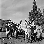 8609-R10-07. Warm Springs Indian. All-Indian rodeo at Tygh Valley. May 22, 1955.
