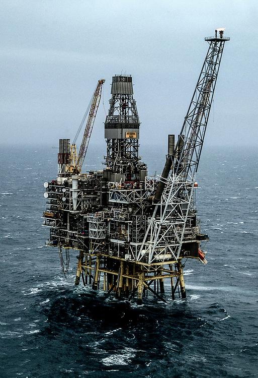 Conoco Phillips Britannia Platform 140 miles off the coast of Aberdeen in the North Sea.