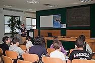 22 marzo 2012 Nosedo, Milano : Impianto di depurazione delle acque reflue.Nella foto una scolaresca in visita a Nosedo. Nosedo Waste Water Treatment plant.