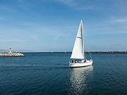 Sailing Through Dana Point Harbor