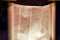 Torah scroll, Jewish chapel (synagogue) of the Cadet Chapel, Air Force Academy, near Colorado Springs, Colorado USA