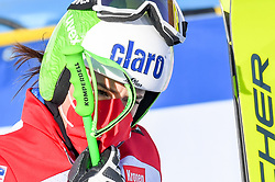 15.02.2021, Cortina, ITA, FIS Weltmeisterschaften Ski Alpin, Alpine Kombination, Damen, Super G, im Bild Katharina Huber (AUT) // Katharina Huber of Austria reacts after the Super G competition for the women's alpine combined of FIS Alpine Ski World Championships 2021 in Cortina, Italy on 2021/02/15. EXPA Pictures © 2021, PhotoCredit: EXPA/ Erich Spiess