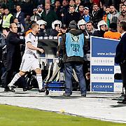 Fenerbahce's Caner Erkin during the Turkish soccer super league match Bursaspor between Fenerbahce at the Ataturk Stadium in Bursa Turkey on Monday, 24 November 2014. Photo by Aykut AKICI/TURKPIX