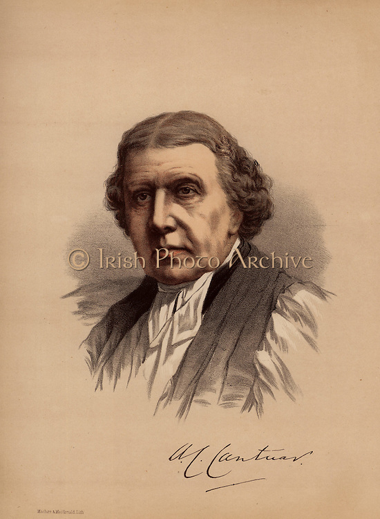 Archibald Campbell Tait (1811-1882), British churchman born in Glasgow to Presbyterian parents. Confirmed in the Scottish Episcopal church in his first year at Oxford.  Bishop of London, 1856: Archbishop of Canterbury from 1868.  From 'The Modern Portrait Gallery' (London, c1880). Tinted lithograph.