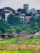 23 DECEMBER 2017 - HANOI, VIETNAM: Hanoi as seen from the Long Bien Bridge.      PHOTO BY JACK KURTZ