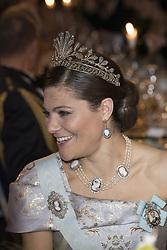 Kronprinzessin Victoria<br /> <br />  <br /> <br />  beim Nobelbankett 2016 im Rathaus in Stockholm / 101216 <br /> <br /> <br /> <br /> ***The Nobel banquet, Stockholm City Hall, December 10th, 2016***