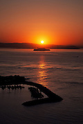 Alcatraz Sunrise from Vista Point Lookout, San Francisco, California