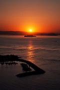 Alcatraz Sunrise from Vista Point Lookout, San Francisco, California