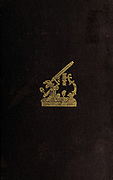 Leather book cover with gold emboss of a microscope From the book '  The microscope : its history, construction, and application ' by Hogg, Jabez, 1817-1899 Published in London by G. Routledge in 1869 with Illustrations by TUFFEN WEST