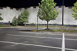 Night Urban landscapes of parking lot Selby Gardens Sarasota Florida