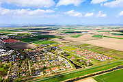 Nederland, Zeeland, Schouwen-Duiveland, 09-05-2013; Zierikzee, villapark en nieuwbouw woningen in de polder.<br /> Villa Park and new houses in the polder, Zealand.<br /> luchtfoto (toeslag op standard tarieven)<br /> aerial photo (additional fee required)<br /> copyright foto/photo Siebe Swart