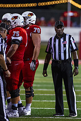 NORMAL, IL - September 07: Stacy Jameson during a college football game between the ISU (Illinois State University) Redbirds and the Morehead State Eagles on September 07 2019 at Hancock Stadium in Normal, IL. (Photo by Alan Look)