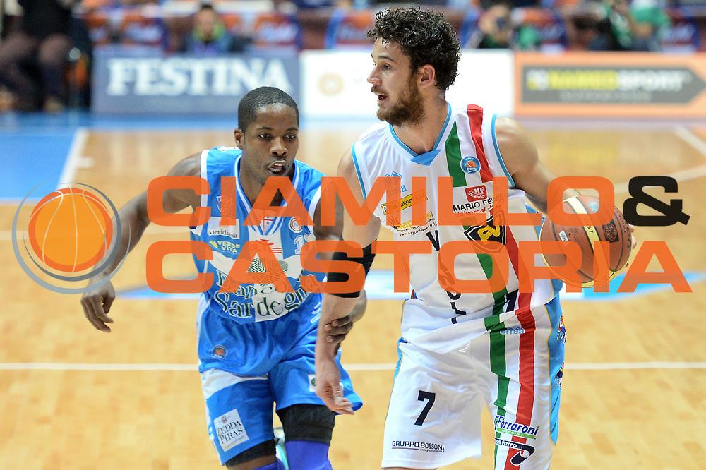 DESCRIZIONE : Final Eight Coppa Italia 2015 Desio Quarti di Finale Banco di Sardegna Sassari vs Vagoli Basket Cremona<br /> GIOCATORE : Vitali Luca<br /> CATEGORIA :Palleggio <br /> SQUADRA : Vagoli Basket Cremona<br /> EVENTO : Final Eight Coppa Italia 2015 Desio <br /> GARA : Banco di Sardegna Sassari vs Vagoli Basket Cremona<br /> DATA : 20/02/2015 <br /> SPORT : Pallacanestro <br /> AUTORE : Agenzia Ciamillo-Castoria/I.Mancini