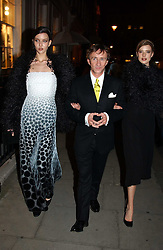 JASPER CONRAN and models at a party to celebrate the opening of Jasper Conran's new shop and HQ at 36 Sackville Street, London W1 on 15th February 2005.<br /><br />NON EXCLUSIVE - WORLD RIGHTS