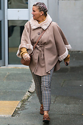 Kerry Katona leaves Brighton Magistrates court where she is accused of failing to ensure one of her children attended school. Brighton, March 07 2019.