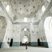 Shakhrisabz, Uzbekistan 20 March 2012<br /> Interior of Kok-Gumbaz Mosque.<br /> The Dorut-Tillavat Memorial complex contains its famous Kok-Gumbaz Mosque also called The Blue Domes mosque.<br /> PHOTO: EZEQUIEL SCAGNETTI