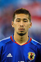 "12/08/04 - THESSALONIKI - GREECE -  - JAPAN OLYMPIC MENS FOOTBALL TEAM -  <br />First match Group B - JAPAN () Vs. PARAGUAY -<br />At the THESSALONIKI ""KAFTATZOGLIO STADIUM"".<br />Min.= '   Japan player N*15 TOKUNAGA Yuhei<br />© Gabriel Piko / Piko-Press"