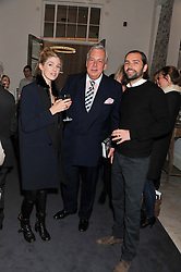 Left to right, GEORGIANA BUTLER, DAVID McDONOUGH and JACK BROCKWAY at a party to celebrate the publication of Mum's The Word by Eve Branson held at Grace, West Halkin Street, London on 11th March 2013.