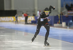 March 9, 2019 - Salt Lake City, Utah, USA - Isabelle Weidemann of Canada competes in the ladies 500m speed skating finals at the ISU World Cup at the Olympic Oval in Salt Lake City, Utah. (Credit Image: © Natalie Behring/ZUMA Wire)