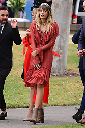 EXCLUSIVE: Paris Jackson gets close with mystery man as she got on a helicopter to the Melbourne cup, and pulls a face for the cameras. 07 Nov 2017 Pictured: Paris Jackson. Photo credit: MEGA TheMegaAgency.com +1 888 505 6342